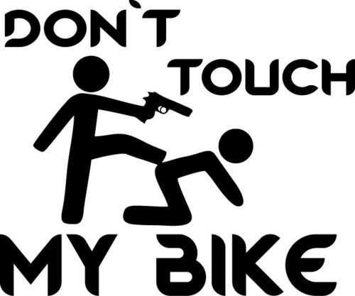 Autoaufkleber Don´t touch my Bike