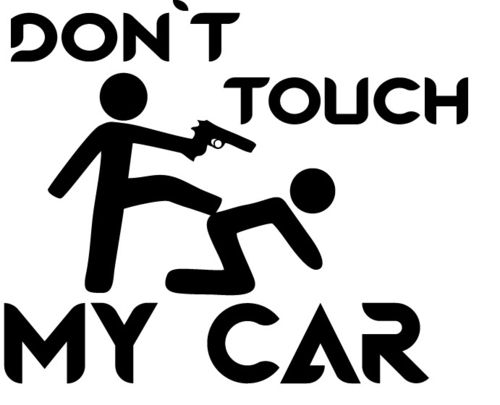 Autoaufkleber Don´t touch my Car