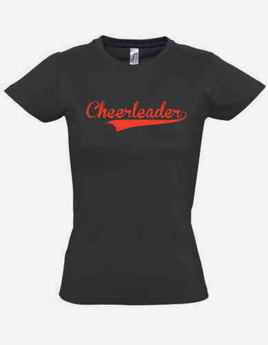 T-Shirt black Cheerleader